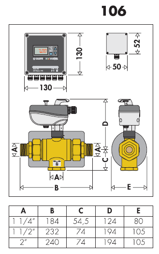 106060 hybrical kit di deviazione per pompa di calore for Helios termocamini scheda tecnica
