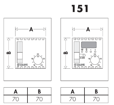151000 termostato sonda ambiente caleffi ebay for Helios termocamini scheda tecnica