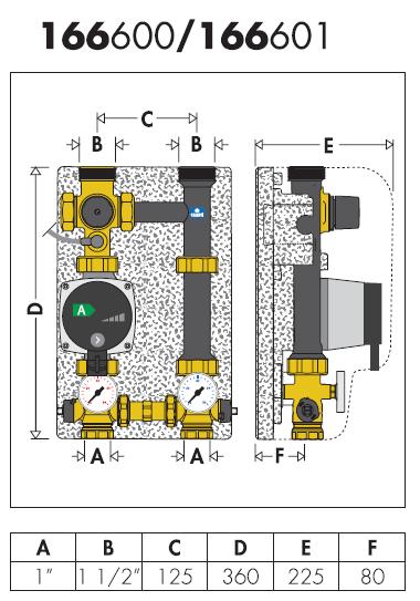 166001 valvola miscelatrice termostatica caleffi ebay for Helios termocamini scheda tecnica