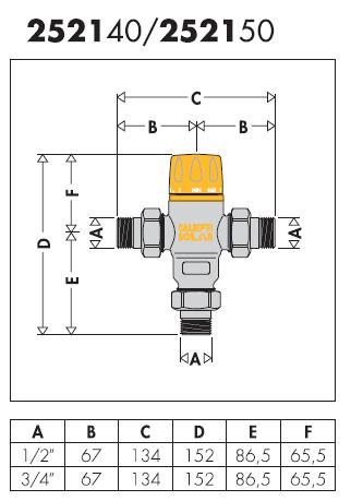 252150 miscelatore termostatico regolabile per impianti for Helios termocamini scheda tecnica