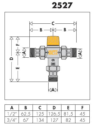 252713 miscelatore termostatico regolabile antiscottatura for Helios termocamini scheda tecnica