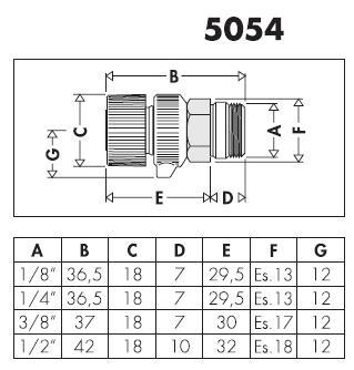 505411 1 8 m valvolina manuale di sfogo aria per for Helios termocamini scheda tecnica