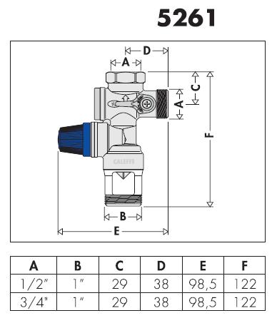 526152 3 4 gruppo di sicurezza per boiler caleffi ebay for Helios termocamini scheda tecnica