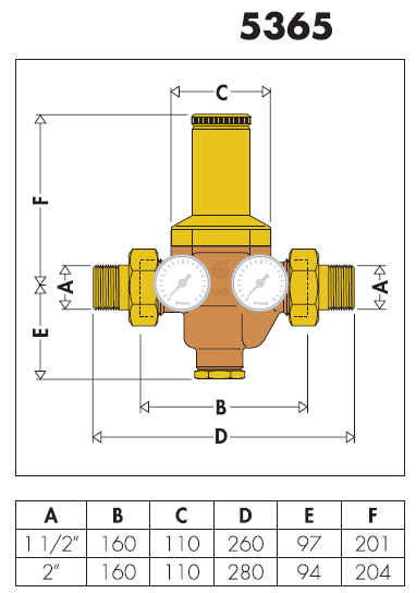 536591 2 39 39 riduttore di pressione con cartuccia estraibile for Helios termocamini scheda tecnica