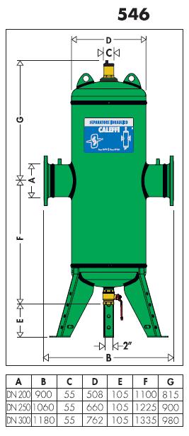 546200 dn 200 discaldirt disaeratore defangatore for Helios termocamini scheda tecnica