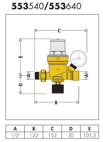 553540 gruppo di riempimento con attacco manometro caleffi for Helios termocamini scheda tecnica
