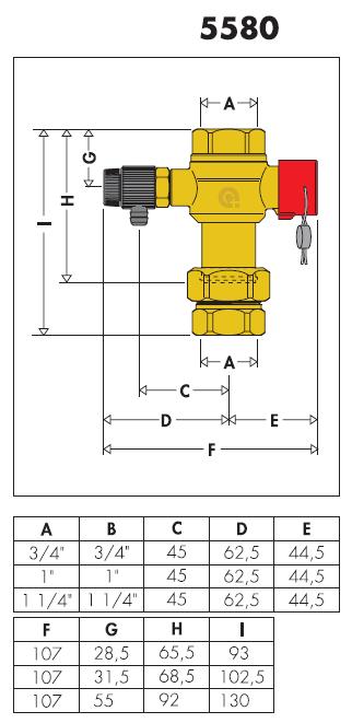 558060 valvola per intercettazione vasi d 39 espansione 1 for Helios termocamini scheda tecnica