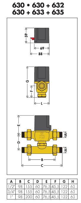630012 220v comando elettrotermico con microinterruttore for Helios termocamini scheda tecnica